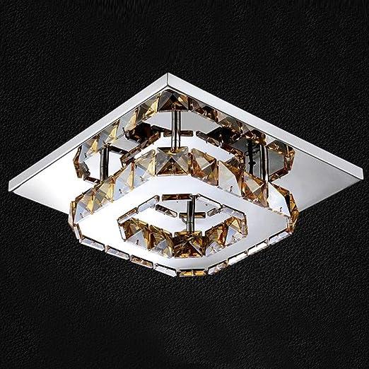Moderno Cristal Lámpara de techo Cuadrado Mini 20 ...