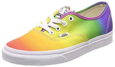 Vans VN0A38EMMOU Men UA Authentic (Dallas Clayton) Footwear Rainbow True  White 40835fad15ef