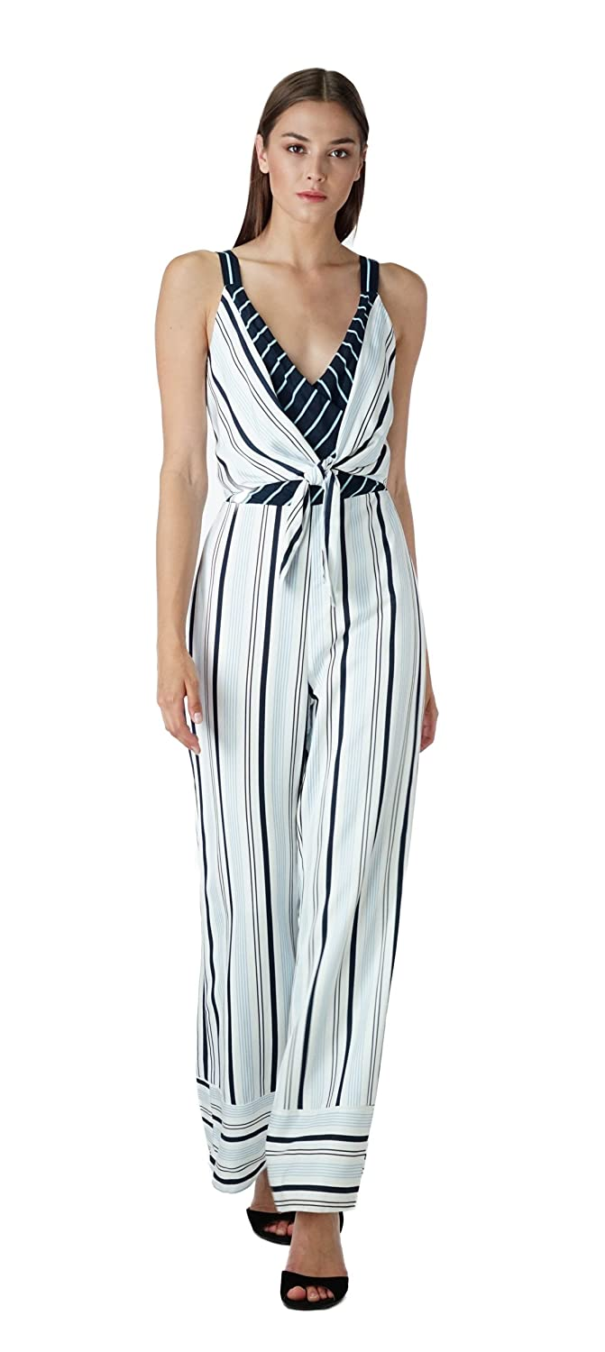 a03abf302632 Amazon.com  Adelyn Rae Ava Striped Jumpsuit  Clothing