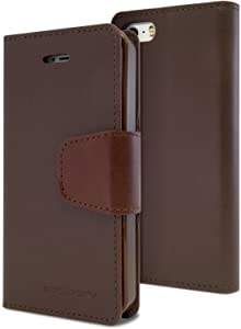 Goospery Sonata Wallet for Apple iPhone SE Case (2016) iPhone 5S Case (2013) iPhone 5 Case (2012) Leather Stand Flip Cover (Brown) IP5-SON-BRN