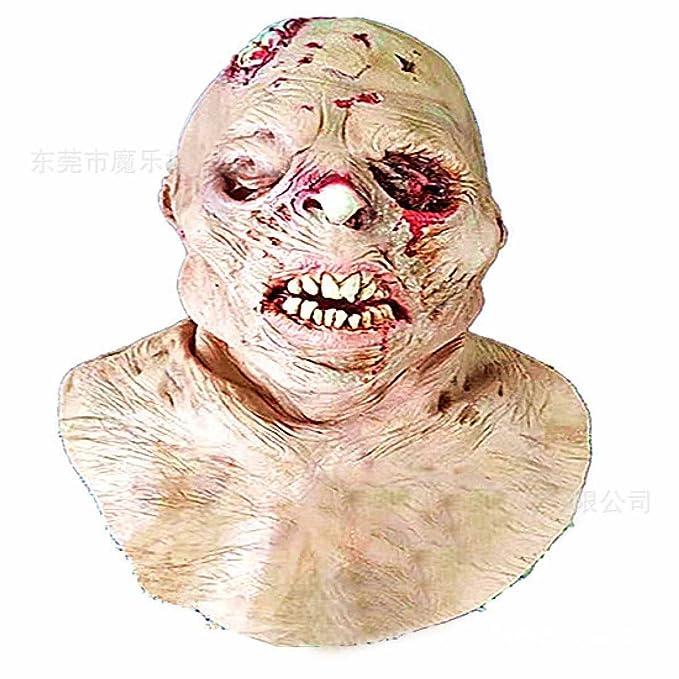 Halloween Horror Gorra Diablo Máscara Látex Muerte Traje Accesorios