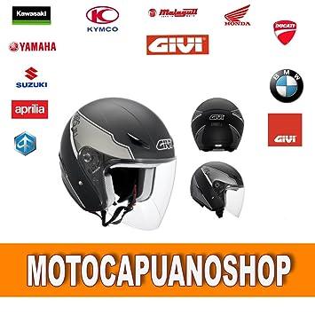 Amazonfr Givi Casque Moto Scooter Jet 301 Street J Noir Mat