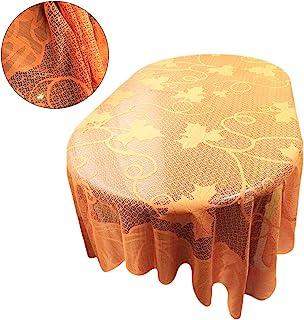 BESTOYARD Nappe de moisson Feuilles d'érable Nappe de Citrouille Nappe en Dentelle Thanksgiving Day Party Décoration de Table 60 'x84