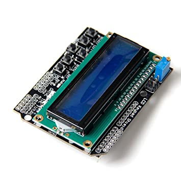 1602 LCD Board Keypad Shield Blue Backlight For Arduino Duemilanove Robot AHS