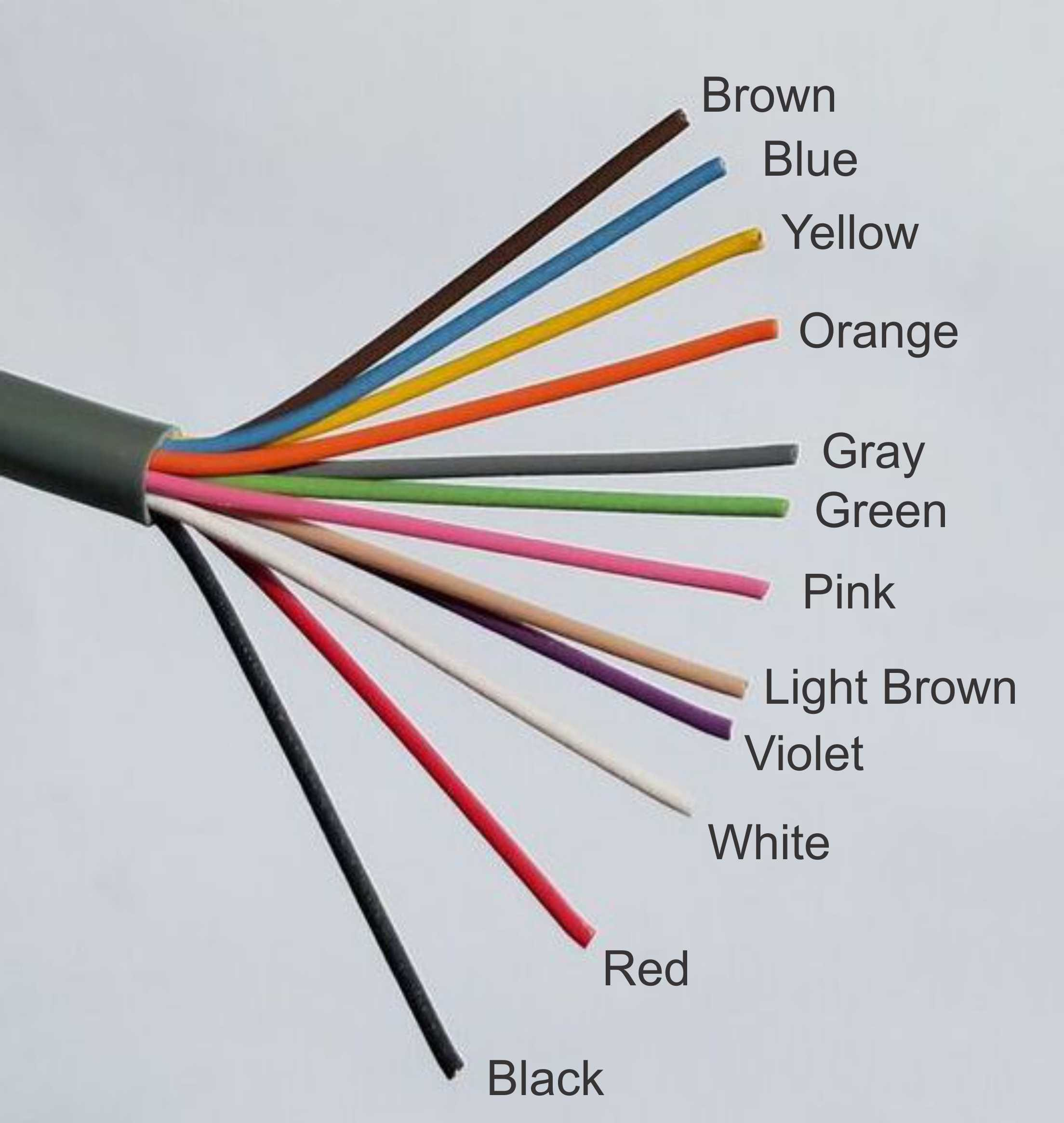 22ga wires in a 12-Conductor, stranded cable with grey PVC jacket, class 2 approved for low voltage applications (20ft) by Oretronix (Image #2)