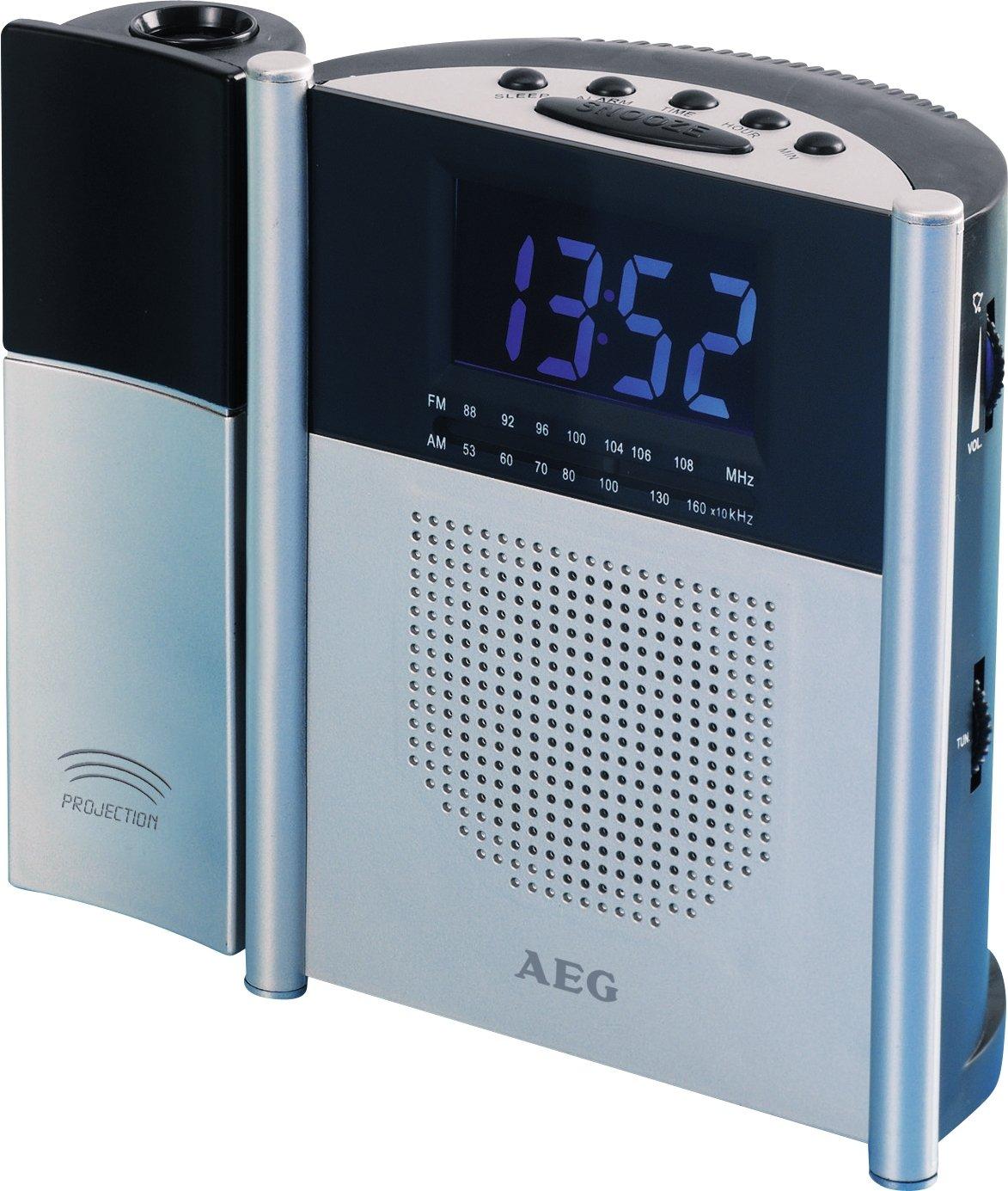 AEG MRC 4105 P - Radio despertador con proyector [importado de ...