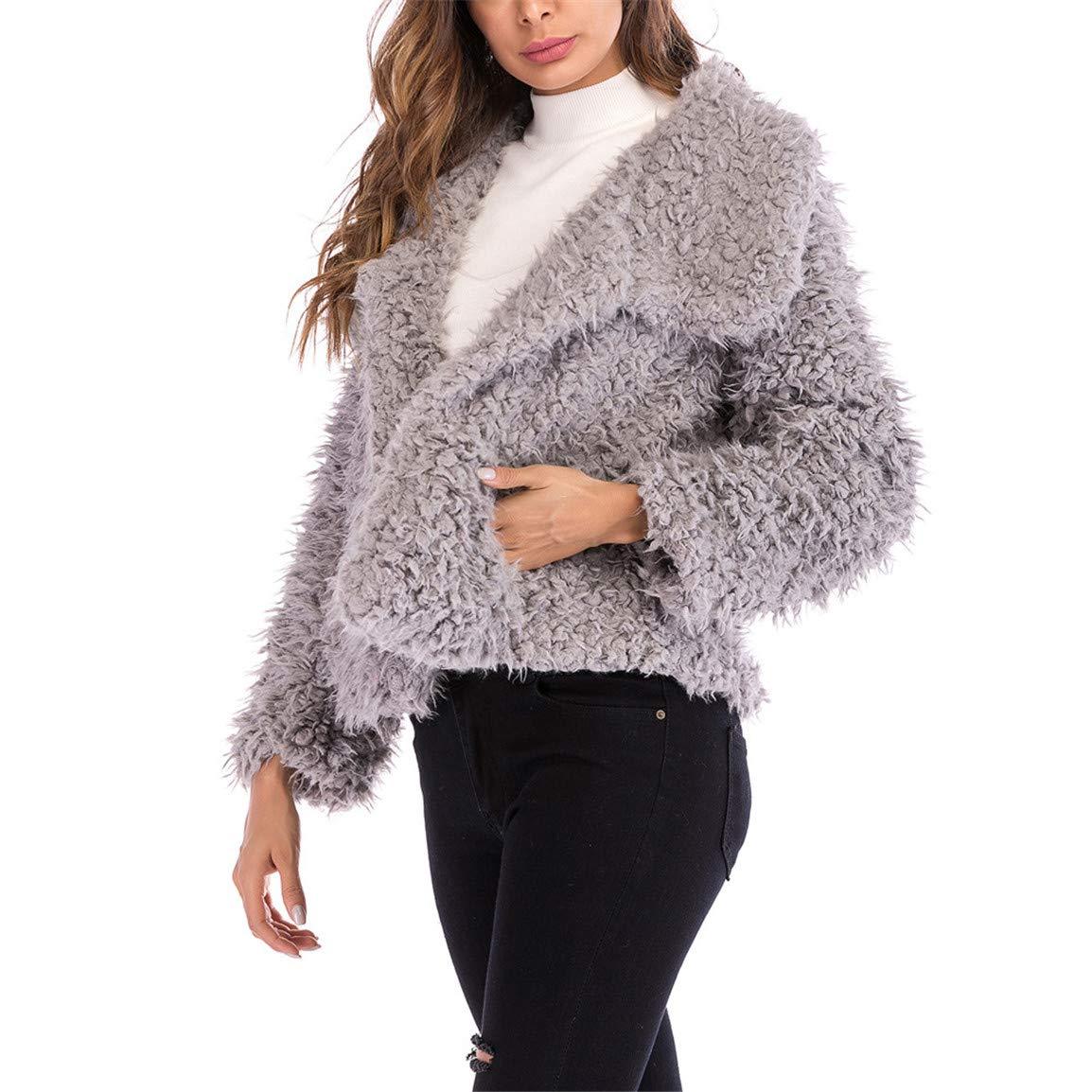 Moonuy Frauen Short Outwear Damen Vollmantel Mantel Solide