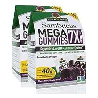 Nature's Answer Sambucus Mega Gummies   7X More Elderberry Concentration   Alcohol-Free, Gluten-Free, Gelatin-Free, Vegan, Non-GMO & No Preservatives   30ct Gummies (Pack of 2)