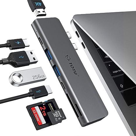 Amazon.com: deepfox 65 W Cargador USB 5 Puertos qc3.0 con 6 ...