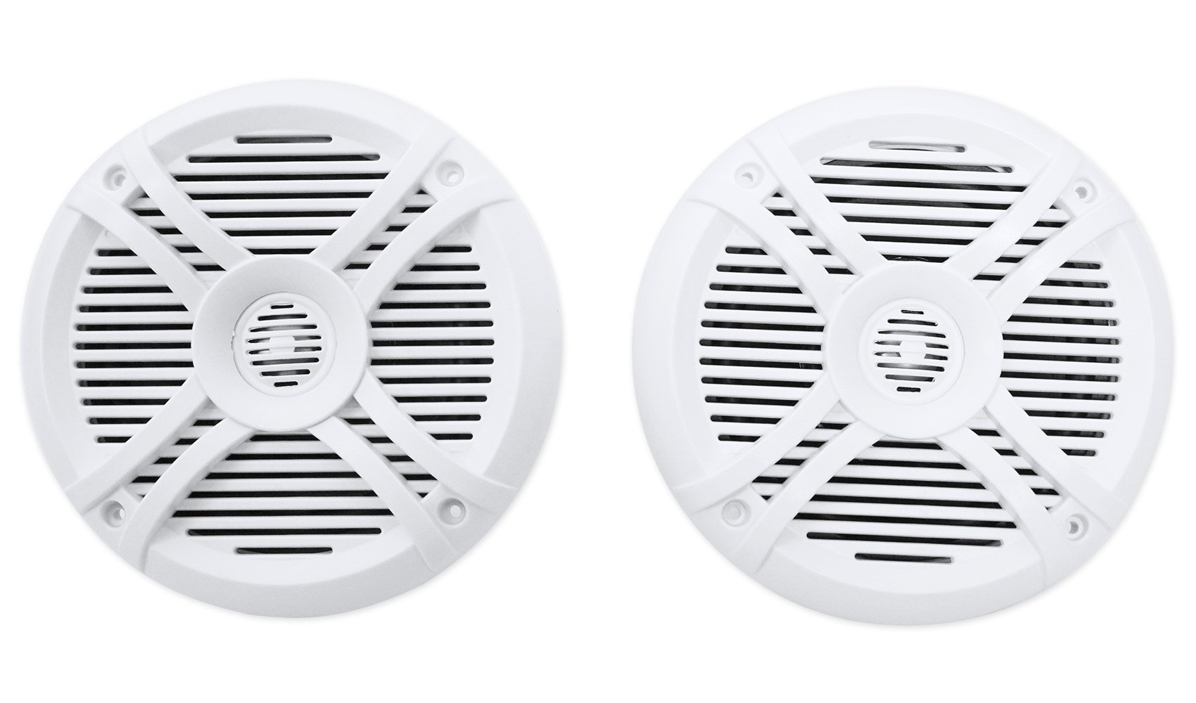 4) Rockville RMSTS65W 6.5'' 1600w Marine Boat Speakers+8'' Wakeboards+Amp+Wire Kit by Rockville (Image #2)