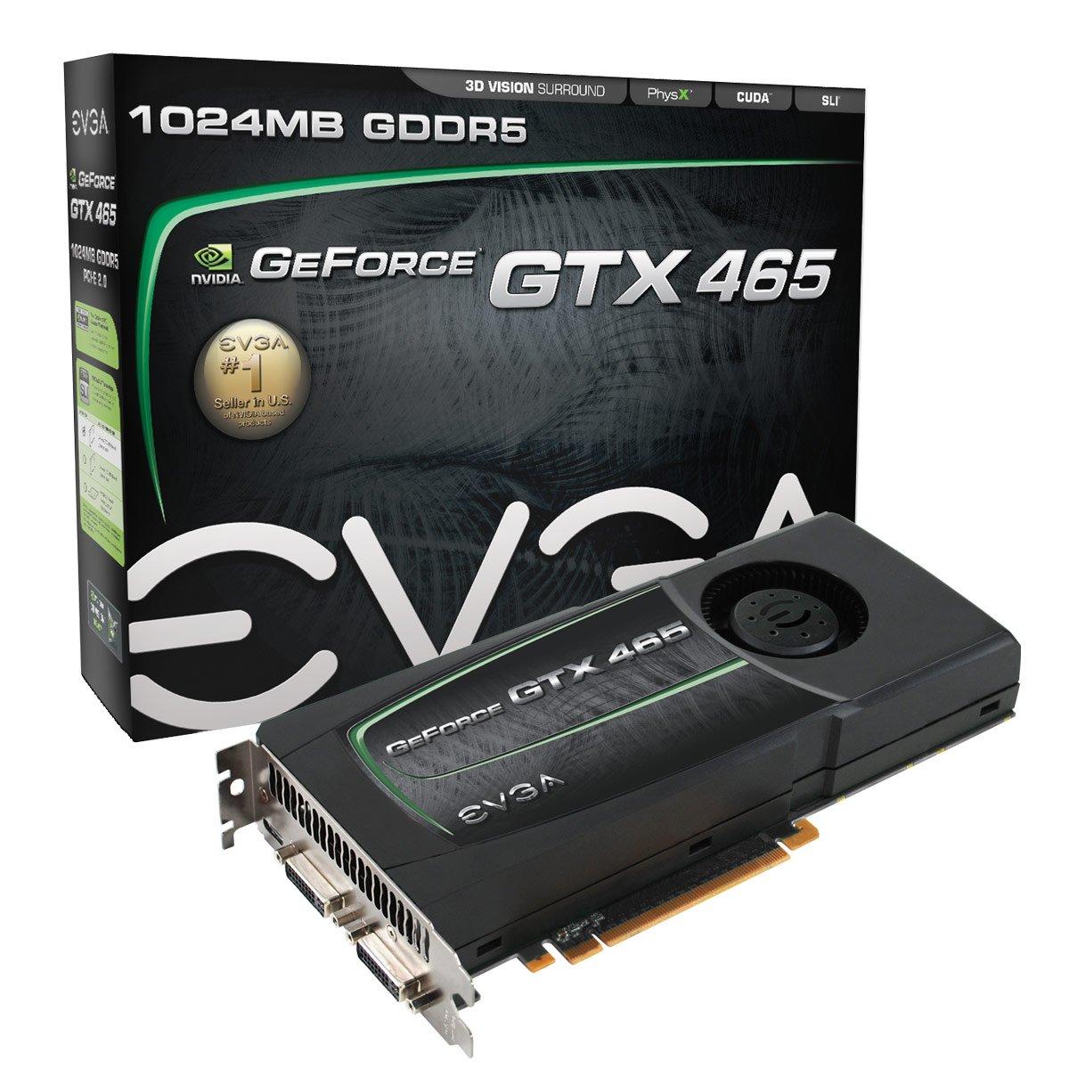 Amazon.com: EVGA GeForce GTX 465 1024 MB GDDR5 PCI Express 2.0  2DVI/Mini-HDMI SLI Ready Limited Graphics Card, 01G-P3-1465-AR: Electronics