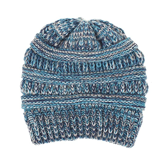 efeed718827 Aigemi Baby Toddler Cable Ribbed Knit Kids Winter Hat Beanie Cap (Blue    Navy