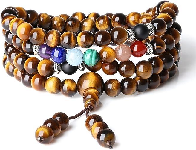 coai Bracelet Mala Bouddhiste Collier Perle Unisexe