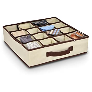 Tie Organizer Storage Box 36x3610cm 16 Compartments  sc 1 st  Amazon UK & Tie Organizer Storage Box 36x3610cm 16 Compartments: Amazon.co.uk ... Aboutintivar.Com