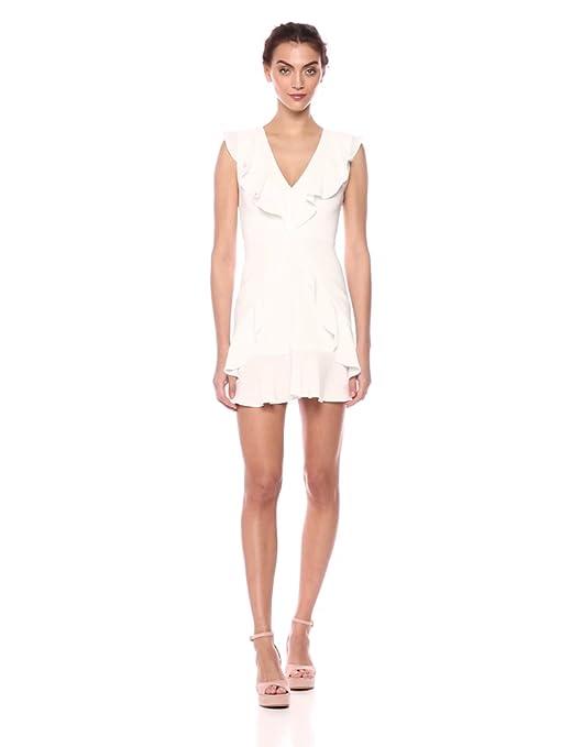 Amazon.com: BCBGMAXAZRIA Women\'s Tyrah Sleeveless Ruffle Dress: Clothing