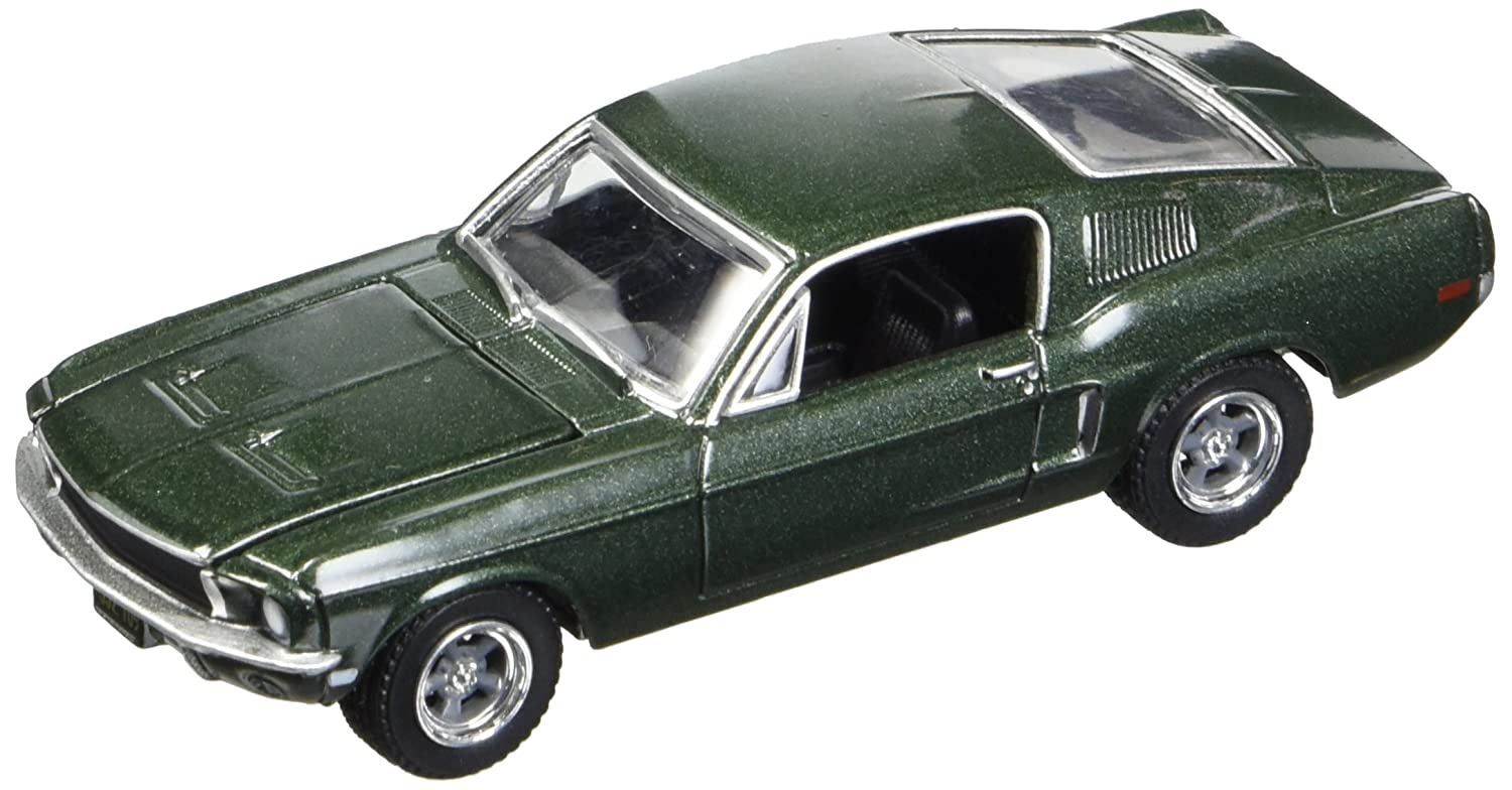 GreenLight Bullitt 1968 Ford Mustang GT Fastback (1:64 Scale) Die-Cast Vehicle, Green 44721