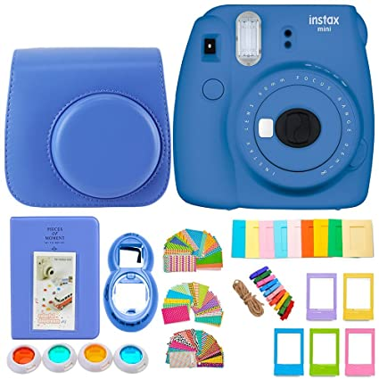 Fujifilm Instax Mini 9 Cámara + 7 en 1 Colorido accesorio Bundle Kit