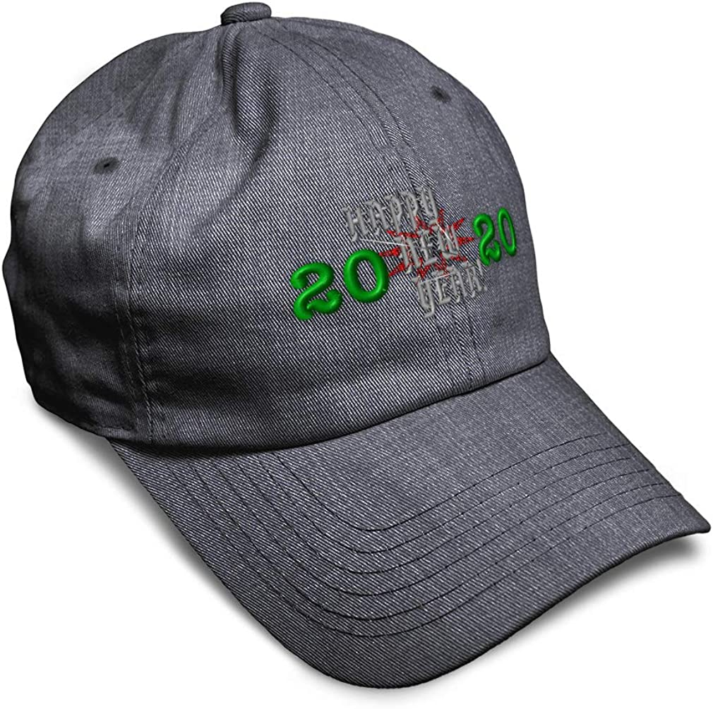 Custom Soft Baseball Cap Happy New Year 2020 Embroidery Dad Hats for Men /& Women