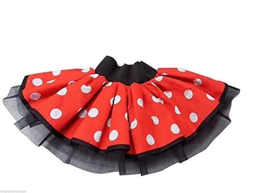 6cdbeb074 Minnie Mouse Tutu Skirt Fancy Dress Fun Run Hen Party Ladies Girls ...