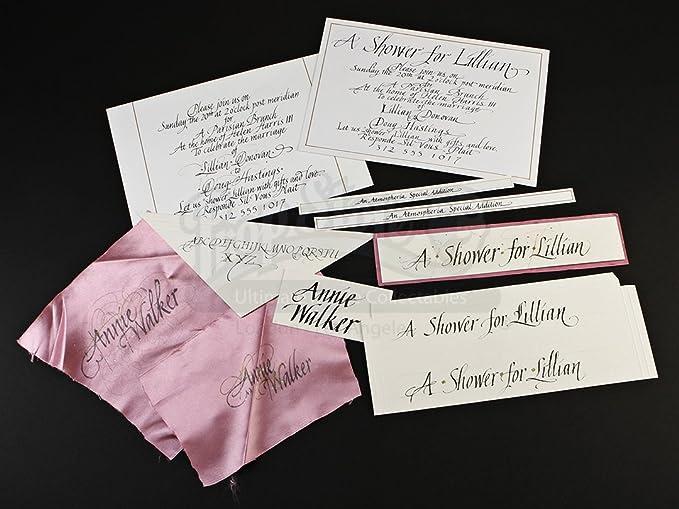 original movie prop bridesmaids original calligraphy for lillians wedding shower invitation authentic