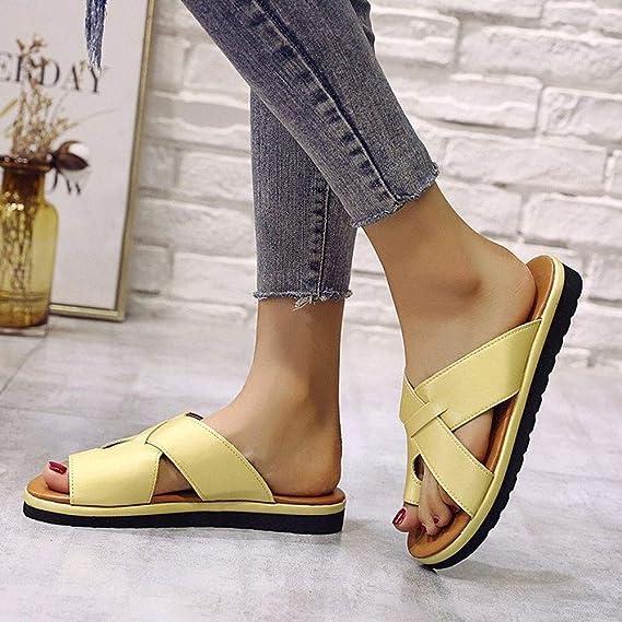 COOLFAS Sandals Shoes Plataforma cómoda de las mujeres zapatos de ...