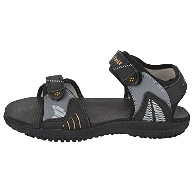 a3f7baec00d Action Campus RS series Black   Golden Casual Sandal For Men (Size 9UK)   Buy Online at Low Prices in India - Amazon.in