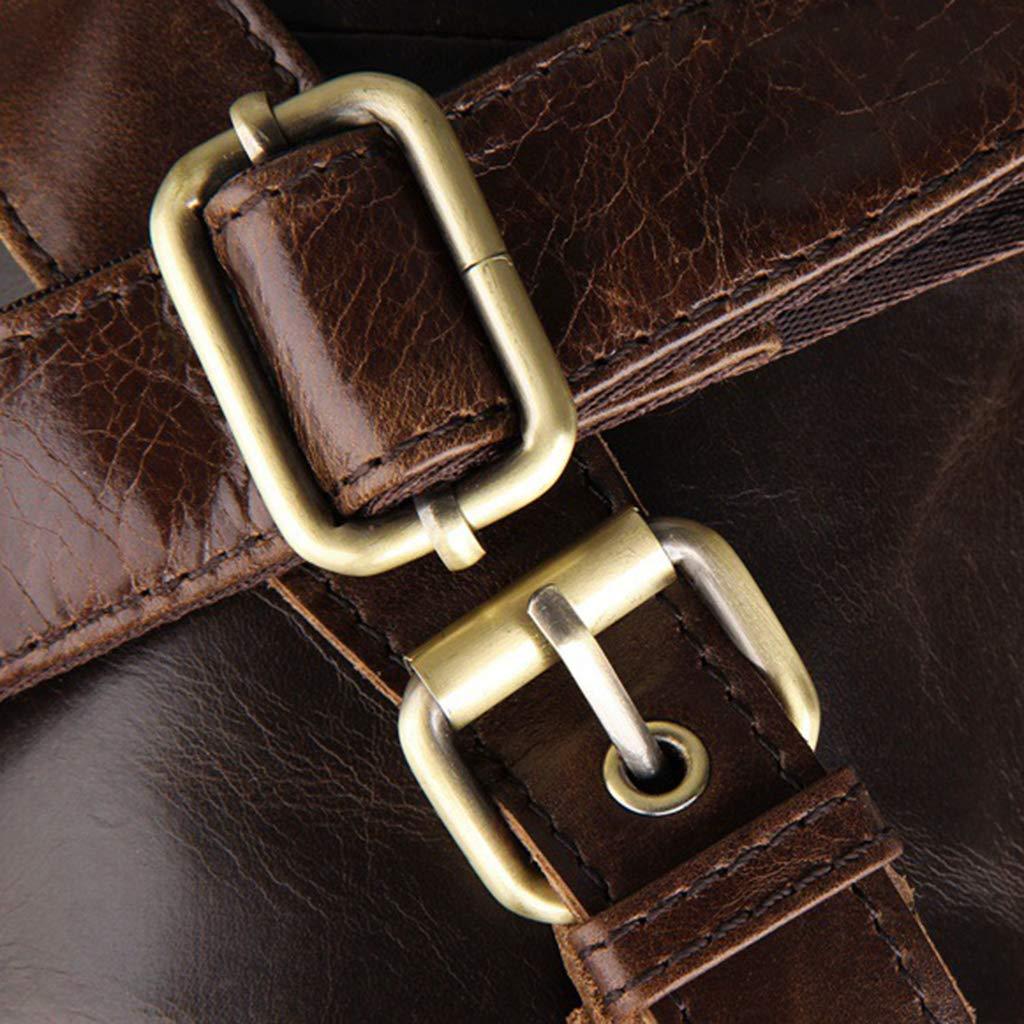 Mens Genuine Leather Waist Bag Money Belt Sport Bum Phone Pouch Wallet Pack Camping Travel RGBIWCO
