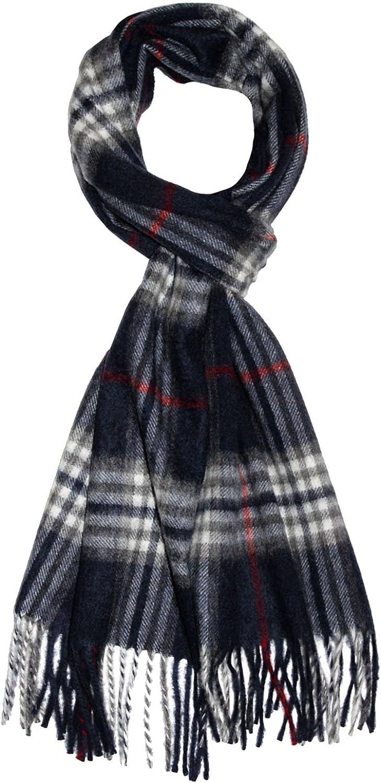 im Karodesign gewebt in harmonischen grau schwarz Farben 7847611 LORENZO CANA Premium Herren Kaschmirschal 100/% Kaschmir Schal extra flauschig Made In Germany