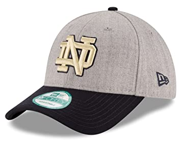 timeless design 2562e 17123 Notre Dame Fighting Irish New Era 9Forty NCAA The League Heather Adjustable  Hat