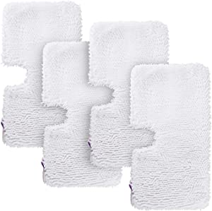 LICORNE 4 Pack Shark Mop Heads Replacement Microfiber Washable Steam Mop Pads Cleaning Pads for Shark S3500 S3601 S3550 S3901, S3801 S3501, S3601, S3801, S3910