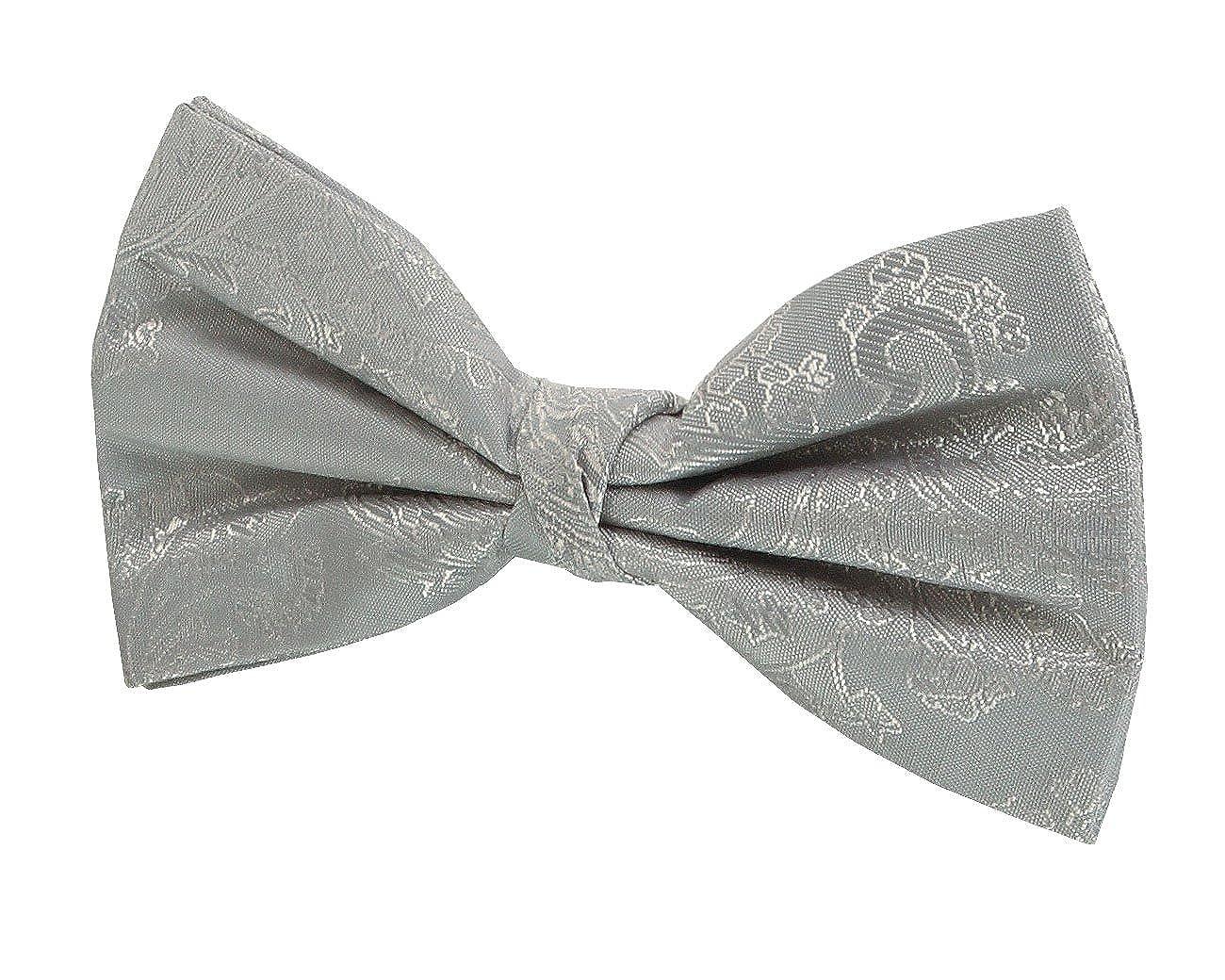 Dobell Boys Burgundy Paisley Bow Tie Pre-Tied