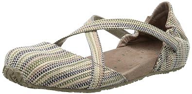 8069fc0bf8d3eb Ahnu Women s Karma Textile U.S.A. Ballet Flat