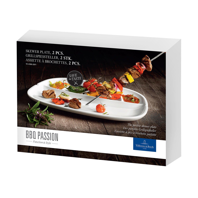 VILLEROY /& BOCH /'BBQ Passion/' grill légumes assiettes 33x22 cm Set 2 pièces