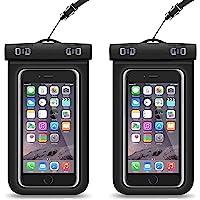 [2-Pack]Funda universal impermeable para iPhone X/8/8 Plus/7/7 Plus/6s/6s Plus/5s, Samsung Galaxy S9 Plus / S9/S8/ S7/S6…
