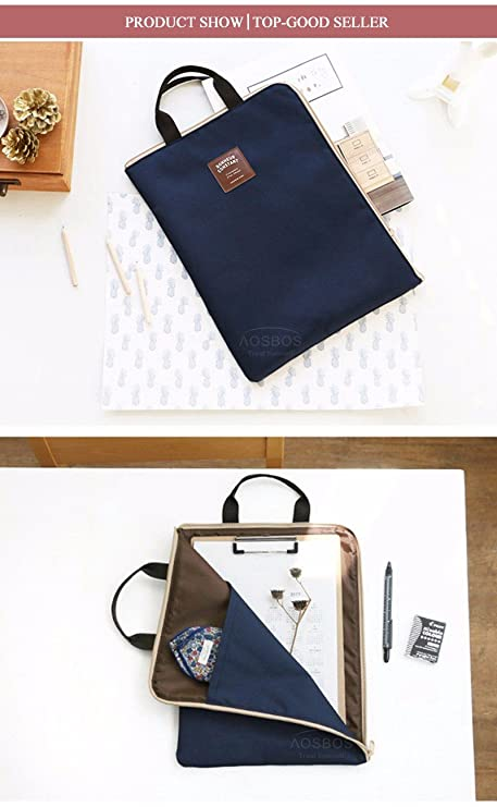 Cyale(TM) A4 Oxford File Folder Bag Men Portable Office Supplies Organizer  Bags Casual 1bdbf834a58b4