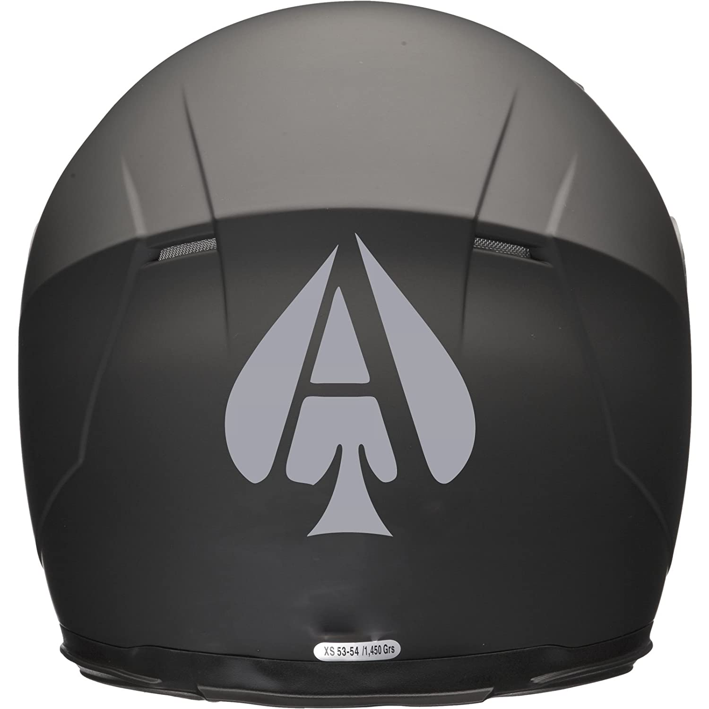 ACE OF SPADES Casco de Moto Coche Adhesivo 100 mm x 120 mm), color plateado Xaevon