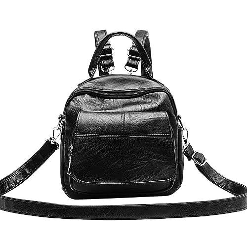 128803a22f15 Gowind7 Women Small Backpack PU Leather Crossbody Bag Pure Teenage ...