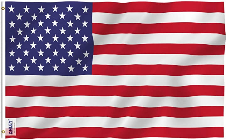 Amazon Com Anley Fly Breeze 3x5 Foot American Us Flag Vivid