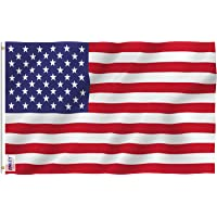 Anley Fly Breeze 3x5 Foot American US Flag - Vivid Color and UV Fade Resistant - Canvas Header and Double Stitched - USA…