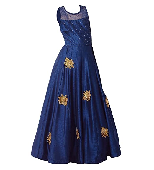 960cd067d5 Angel Fashion Designer Cute Dark Blue Kids Girls Readymade Gown with ...