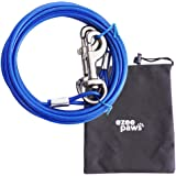 Dog Tie Out Cable with Storage Bag 20ft (6m) (Blue)