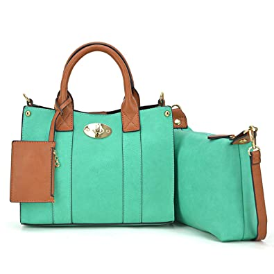 Women Handbag 3 Pieces Set Leather Shoulder Bag Satchel Purse 3 in 1 Simple Designer  Bag a12a0a1f5880c