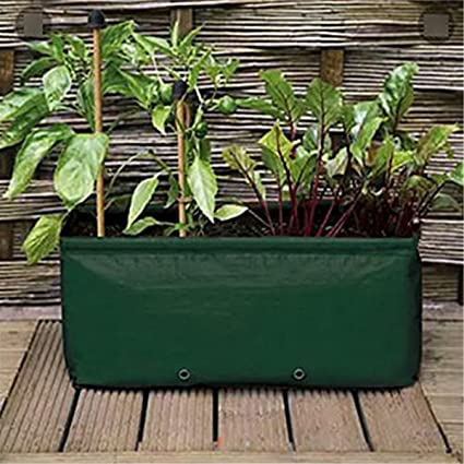 Wakaka Pe 14 Gallon Raised Garden Bed Strawberry Tomato Potato Planter Bag Garden Plant Grow Bags For Fruits Vegetables And Flowers