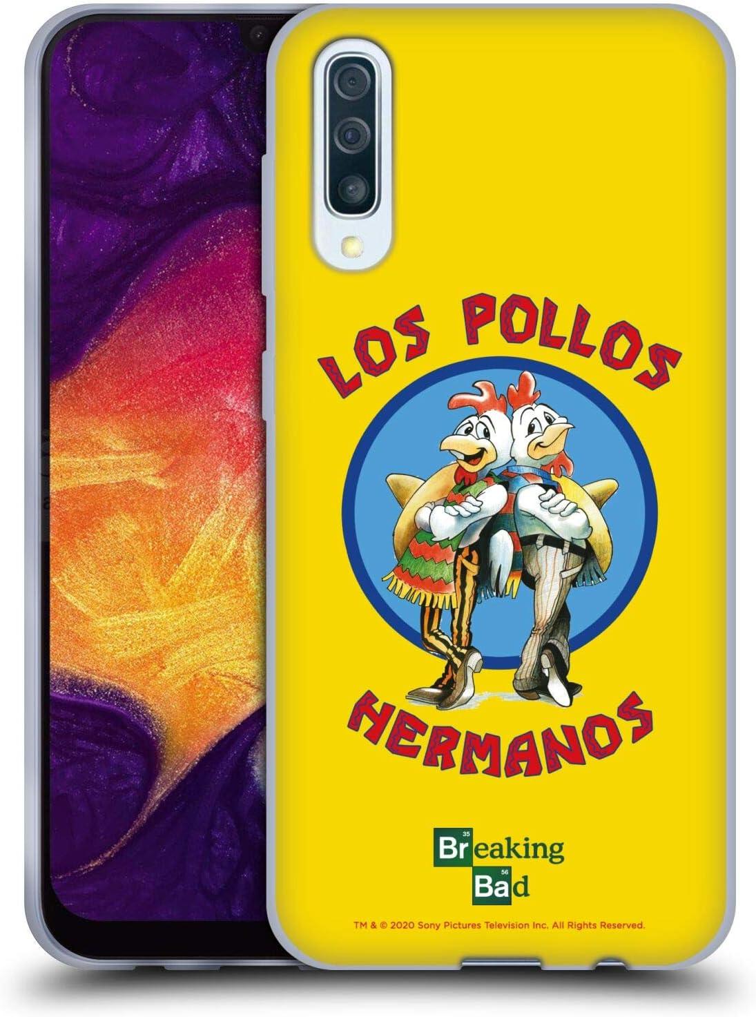 Oficial Breaking Bad Los Pollos Hermanos Gráficos Carcasa de Gel de Silicona Compatible con Samsung Galaxy A50/A30s (2019)
