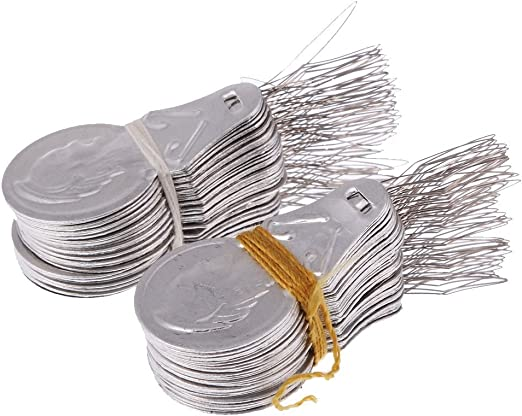 100 piezas de enhebrador de agujas de alambre, herramienta de ...