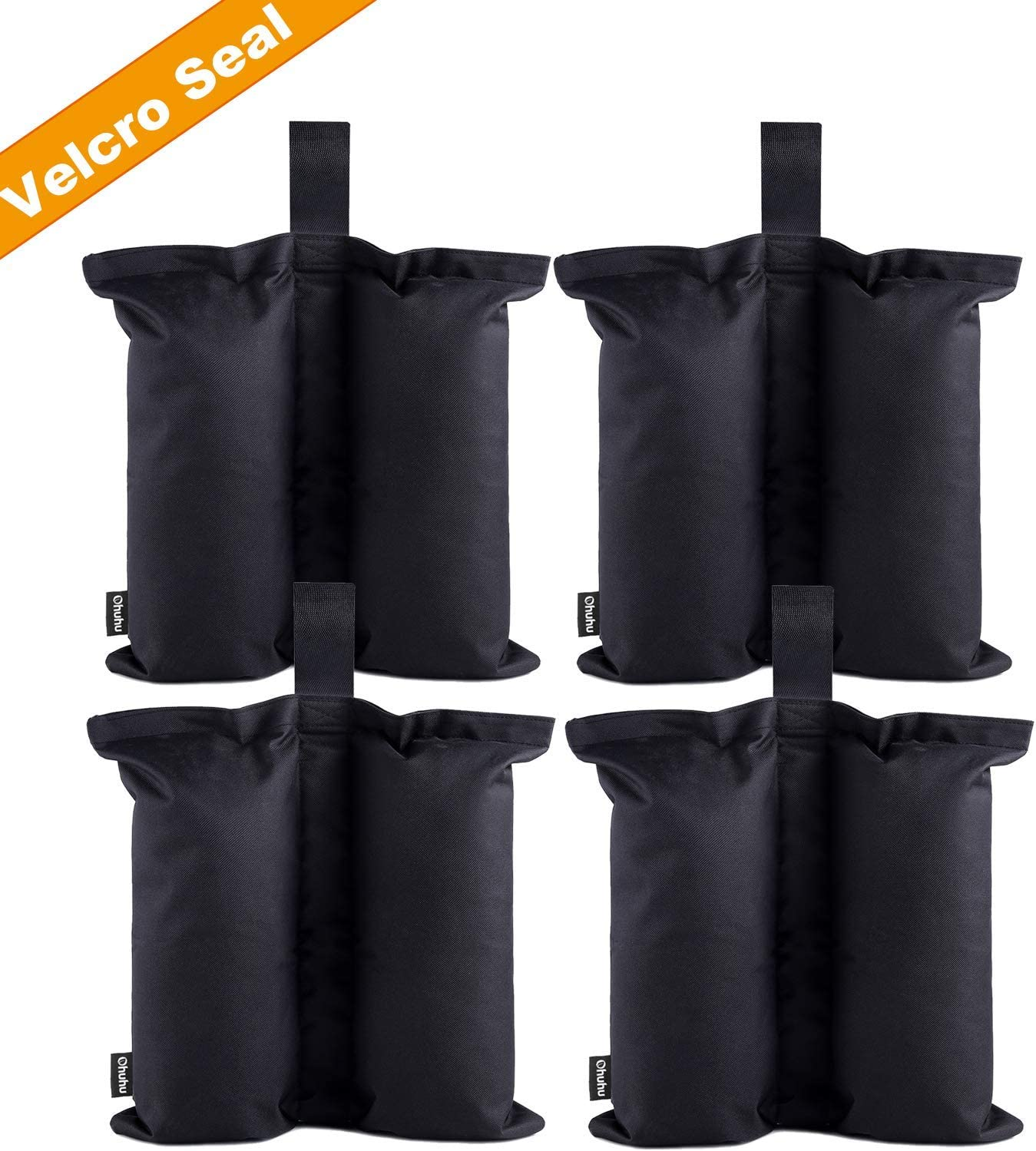 Ohuhu Canopy Weight Bags for Canopy Tent, Up to 115 LBS Capacity Sand Bags Leg Weights for Pop Up Instant Outdoor Sun Shelter Canopy Legs, 4-Pack (Bags Only, Sand Not Included) 71pY7aUJbZL
