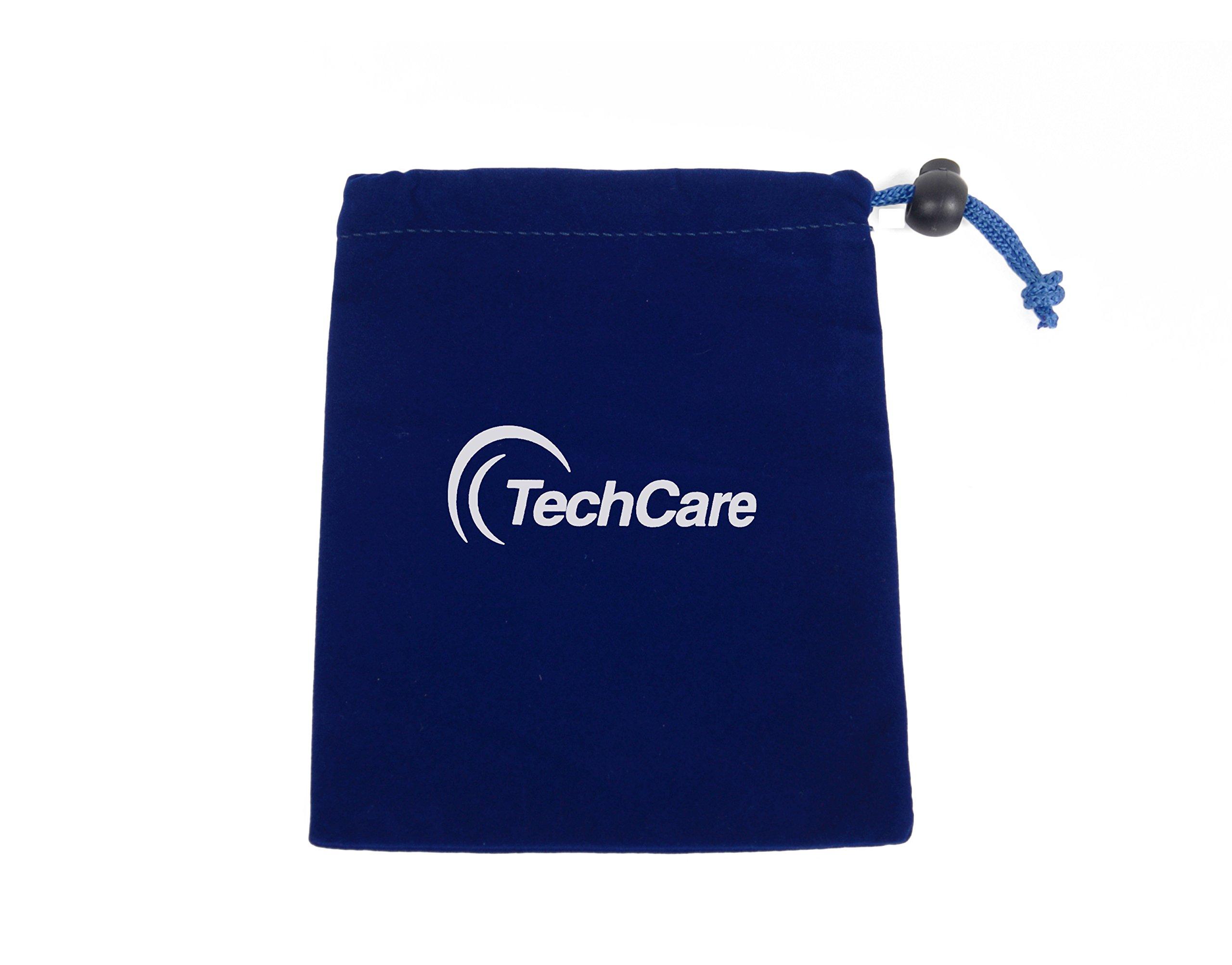 TechCare Pro TENS Unit 24 Modes Best Portable Massager FDA cleared 510K Back Neck Stress Sciatic Pain, Handheld Full Body Palm Plus Digital Pulse Impulse Professional Micro Massager (Black)