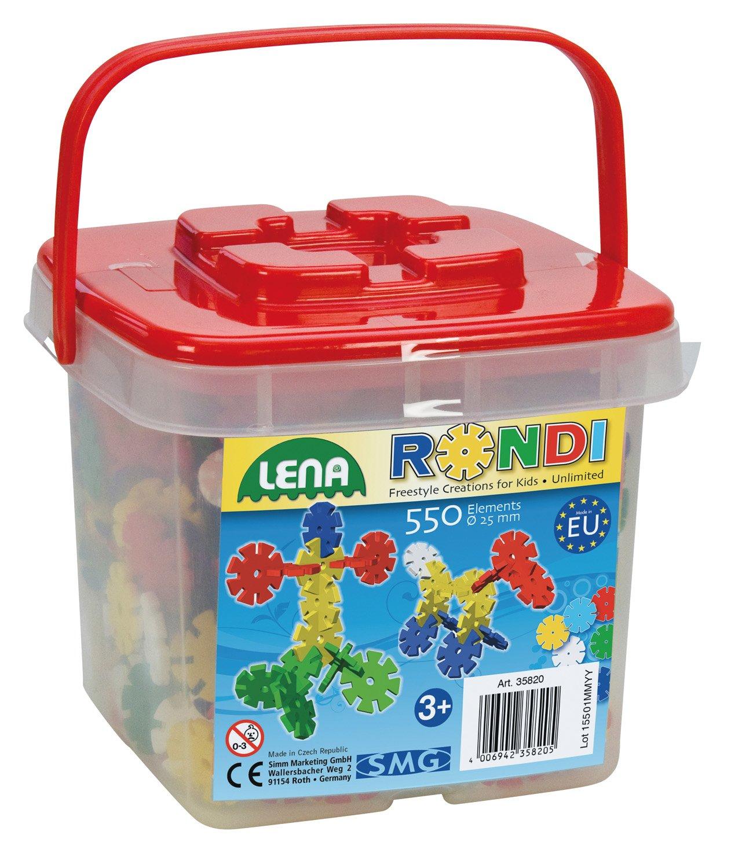Lena 35820 - Bastelset Rondi 25 mm im Eimer mit 550 Stück SIMM Spielwaren 4006942358205