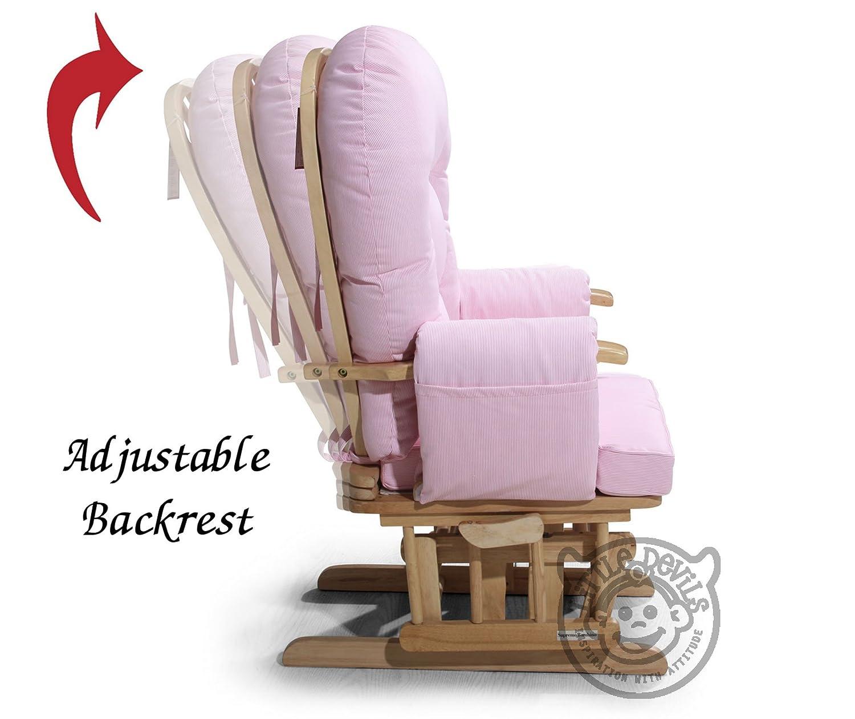 All products baby amp kids nursery furniture rocking chairs - Cream Supremo Bambino Fabric Nursing Glider Rocker Maternity Feeding Glider Chair With Locking Mechanism Free Matching Footstool Amazon Co Uk