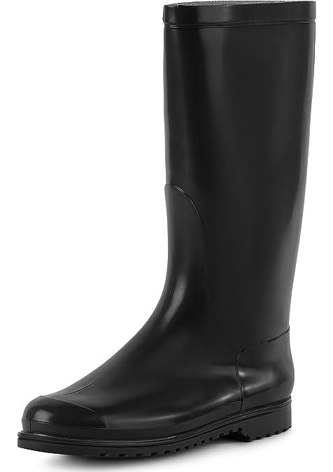 Ladeheid Botas de Agua Zapatos de Seguridad Mujer LABN100 (Negro, EU 35)